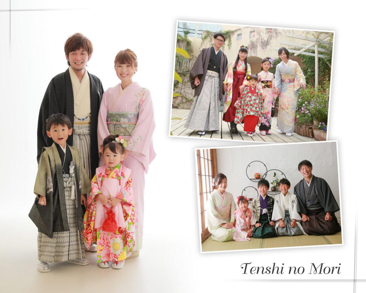 栃木県 佐野市 写真館 天使の森 ご家族全員和装