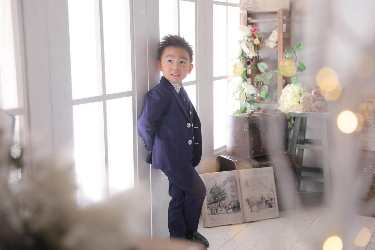 3歳男の子七五三タキシード