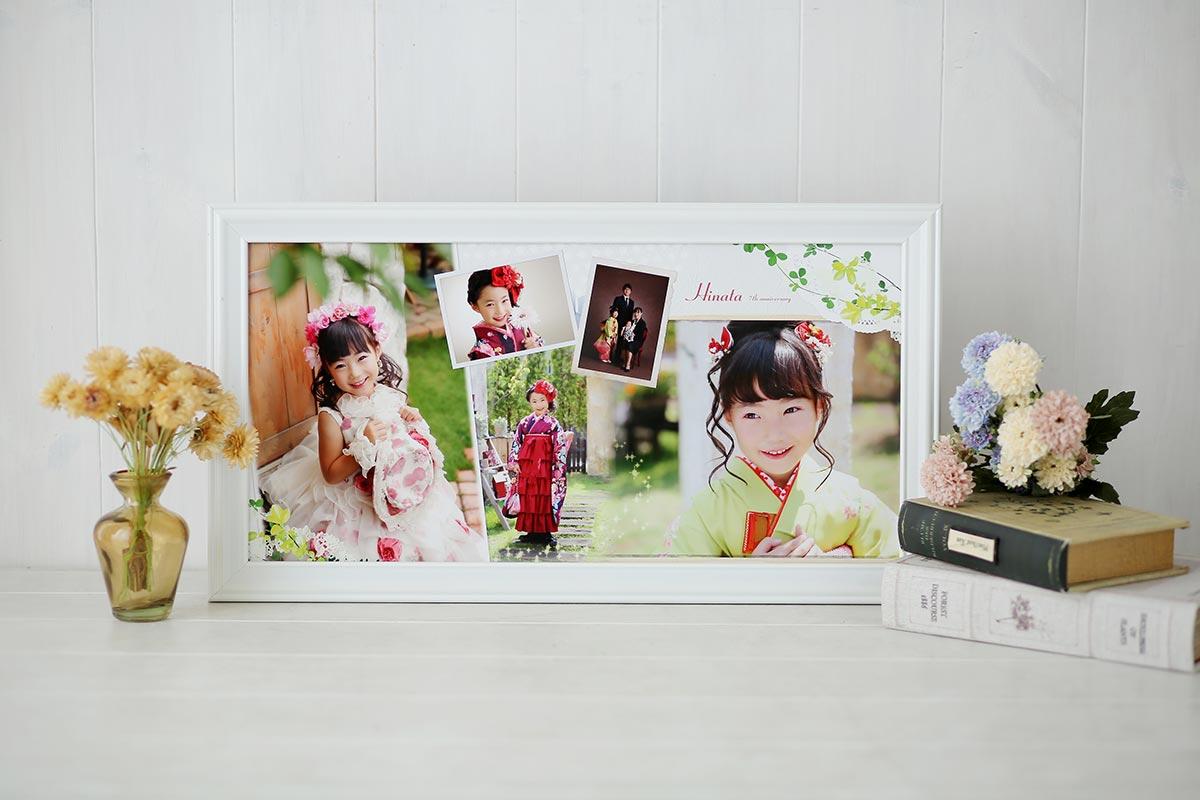 7歳の女の子が写っているフォトフレーム